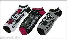 Walking Dead Zombie Men's Low Cut Socks 3 Pair - Suffered / C Block / Sheriff