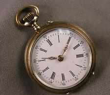 Antique European CF .800 Silver Cylinder Pocket Watch 10 Rubies Hallmarked Case