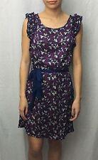 FRANCESCA'S Purple Floral Pattern Mini DRESS Top Size Small XS