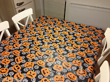 HALLOWEEN PUMPKIN TABLE CLOTH COVER TABLECLOTH PARTIES KIDS VINYL FLANNELBACK