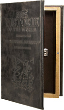 Antique Book Safe Lock Box with Key Lock Hidden Magnetic Closure Hide Valuables