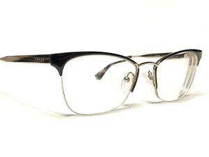 Prada VPR65Q QE3-1O1 Womens Black & Gold Cats Eye Rx Eyeglasses Frames 51/17