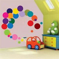 Colorful Polka Dot Wall Sticker Kids Room Poster Color Round Dot Wallpaper Art