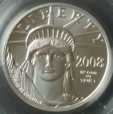 2008 $10 1/10oz Platinum American Eagle Pcgs Ms69