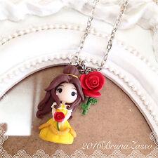 Collana Chibi Belle Cute Disney Handmade Fimo Polymer Clay Kawaii tiny Princess