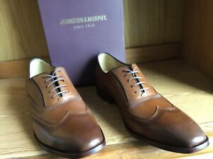 Johnston & Murphy McClain Wingtip Oxford Shoe Men Tan Size 12 EU 46  204752