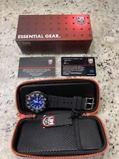 New! $375 Luminox Navy Seal 3000 V3 Watch XS.3003. Blue. Soft Case. Swiss Made