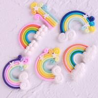 DIY Kawaii Rainbow Party Cake Topper Star Birthday Decorations Cake Flags Cloud