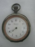 1893 AMERICAN WALTHAM OPEN FACE POCKET WATCH with COIN SILVER CASE