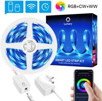Smart LED Strip Lights Alexa 5M16.4FT, Lumary 6 Pin RGB WW CW LED Lighting Strip