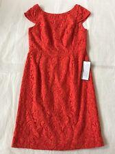 NEW J CREW Lace Elsa Dress Poppy Red 10 J.CREW #A6005 Bridesmaid Party Wedding