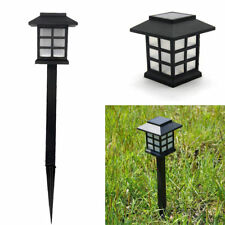 4Pcs  LED Solar Outdoor Garden Path Post Lantern Landscape Lamp Powered Light