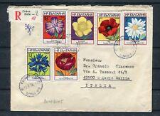 Einschreiben Bulgarien MiF Blumen Motive Sofia-Regio Emilia - b4810