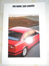 BMW 3 Series Coupes brochure 1992 Ed 1 German text