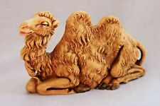 "1983 Roman Fontanini 6""long Seated Camel 7.5 Scale Nativity Figure 313 Italy Exc"