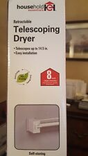 New Wall Mount Hanger Telescoping Clothes Drying Rack 7 Adjustable Lines