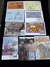 Post Vatikan 19 St.m.  Sonderstempel u.Briefmarken auf Karten u.a.Papst Paul II.
