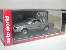 AW Auto World, 1986 Buick Regal T-Type, argent, 1/43 (AWR 1138/06) Résine-Modèle
