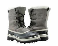 New Sorel Women's Caribou Boots Gray Shale Stone Waterproof Winter -40 PICK SIZE