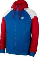 Nike Sportswear Windrunner Full-Zip Jacket Blue Red White CK0163-477 Men's NWT
