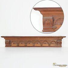 Cimasa antica in legno fregio sovraporta sopra porta intaglio vintage epoca 800.