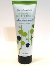 NEW 1 BATH BODY WORKS JASMINE & GREEN APPLE BODY CREAM 8 OZ JAMINE EXTRACT TUBE