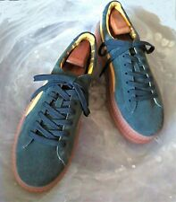FENTY by Rihanna PUMA Men's 11 M Green/Yellow Suede Lace-Up Creepers/Sneakers