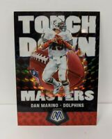 2020 Panini Mosaic Dan Marino Touchdown Masters Silver Prizm Dolphins