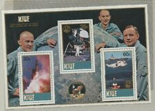1979 NUIE SOUVENIR SHEET,10th ANNIVERSARY U.S. LANDING ON MOON