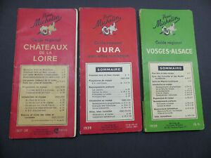 Lot Guides Michelin  Régional 1937 / 1938 / 1939 Jura . Vosges . Loire Chateaux