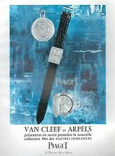 ▬► PUBLICITE ADVERTISING AD MONTRE WATCH PIAGET VAN CLEEF AND ARPELS