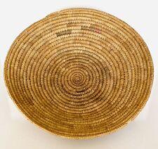 "LARGE JICARILLA APACHE INDIAN BASKET BOWL TRAY ~ 1900s ~ 15"" ACROSS"