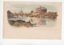 Mausoleo Adriano Castle St Angelo Roma Italy U/B Chromo Litho Postcard 103b