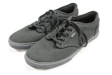 Vans Authentic Classic Canvas TC9R Black Skateboard Shoes Women's 11