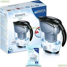 NEW BRITA Elemaris Meter Cool 2.4L Water Filter Jug with Maxtra Cartridge Black