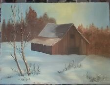 """Vintage Original Oil Painting on canvas, unframed size12X16""""signed by T. KNIGHT"""