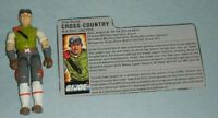 1986 GI Joe Cross Country HAVOC Driver v1 Figure w/ File Card *Complete