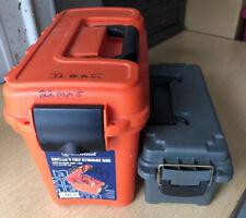 2 Dry Storage Ammo Or Supply Box No Trays Attwood Large Orange Plano Green Med