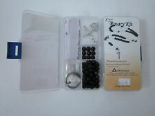 Fiona Crystal & Pearl Beads DIY Rosary Kit Black