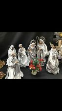 """Christmas In July Nativity Scene  Hand Made 9.75""""- 25 Cm Approx Xmas"""