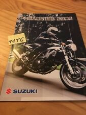 Suzuki roadster 2003 SV650 GSF600 1200 GSX1400 GS500 prospectus moto brochure