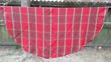 """Red Bright Green Christmas Tree Plaid Round 60"""" Tablecloth Free Shipping"""