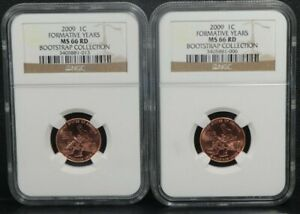 2009 1C Formative Years Lincoln BOOTSTRAP COLLECTION Penny NGC MS66RD