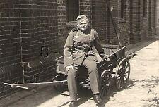 WWII Original German RP- Named- Soldier- Uniform- Comic- Sits in Potato Wagon