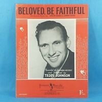 Beloved Be Faithful - Teddy Johnson - Original Vintage Sheet Music 1950