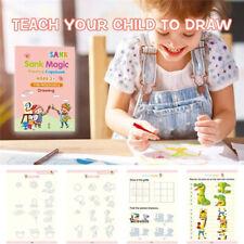 Sank Magic Practice Copybook Number Book Writin Preschooler Pen Age Reusable C9