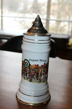 Original Bierzug Beer Stein Draft Horses and Driver Germany by Gerz