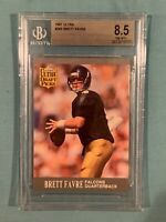 1991 Fleer Ultra #283 Brett Favre BGS 8.5 Near Mint + Rookie RC NFL Packers HoF