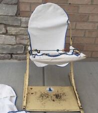 1930's-50's? Vintage Totseat Metal Baby Bouncing Chair Seat W Tray NOExtra Cover