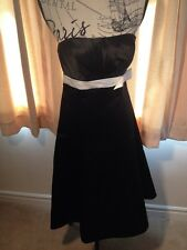 M&S Autograph Occasions Womens Dress Size 8 Black / Ivory Proms